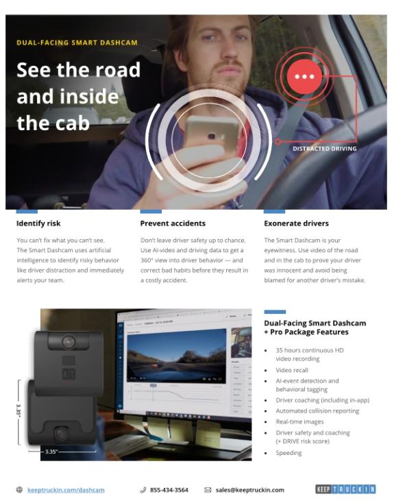 Truckers Dual Facing Smart Dash Cam